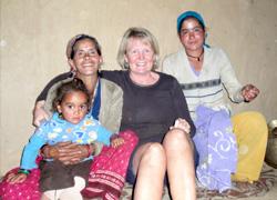 Kerstin på besök i Indien